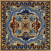 Italian Blue Decorative Tile Mural Small