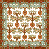 medallion rose ii artistic tile, decorative tile designs