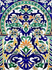 "Moroccan Artistic Tile Mural 6"" Ceramic Backsplash"