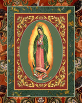 Our Lady Mexican Religious Icon Art Tile