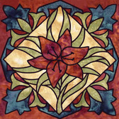 Paper Flower Artistic Tile, Decorative Tile Designs by Connies Custom Creations