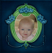 Personalized Baby Tile w Vintage Frame by Connies Custom Creations