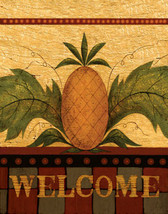 Welcome Plaque Sign Pineapple Art Tile