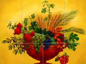 Pomegranite Bowl  Artistic Tile Mural