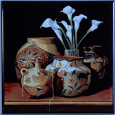 Southwestern Calla Lilly Art Tile