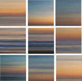 Sunrise Abstract Back Splash Tile Set