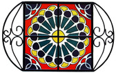 Talavera Art Tile Wrought Iron Tray