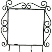 "Wrought Iron Key Rack Frame For 6"" Tile"