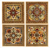 Italian Renaissance Artistic Tile Set 4.25, decorative tile designs