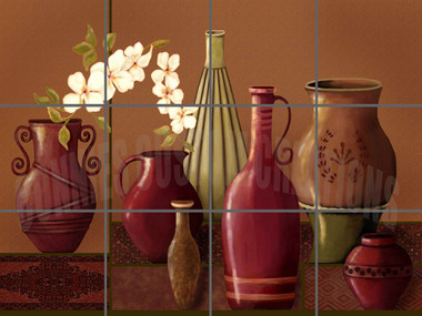 tuscan pottery decorative tile mural designs by connies custom creations