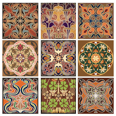 elegant array tile set artistic design