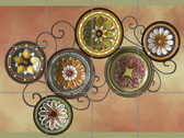 Plates Artistic Tile Mural by Connie's Custom Creations
