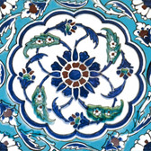 Syrian Circle Decorative Back Splash Tile