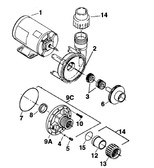 AQUA-FLO | MOTOR, 115V, REP W/ COMPLETE PUMP | 9352-9302