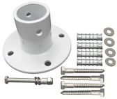 PERMA-CAST | ALUMINUM FLANGE WITH HARDWARE AND CONCRETE ANCHORS | PF-3119-A
