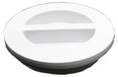 "HAYWARD | FLAT PLUG WITH GASKET, 1 1/2"" MPT, WHITE 