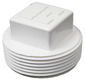 "HAYWARD | PLUG ONLY WITH SQUARE HEAD, 1 1/2"" MPT, WHITE 