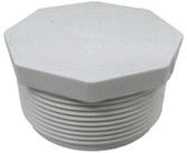 "JACUZZI | PLUG ONLY WITH 8 SIDE HEAD, 2"" MPT, WHITE 
