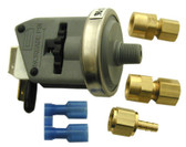"LEN GORDON | PRESSURE SWITCH, 1/8"" NPT, WITH 3/16"" AND 1/4"" COMPRESSION FITTING 