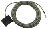 AQUALINE | BRETT AQUALINE TEMP SENSOR FOR BL-40 BLACK PLASTIC BULB, 20 FOOT CABLE 3 PIN, WHITE END CONNECTOR INCLUDES STAINLESS STEEL CLAMP, GASKET | 70840