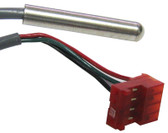 GECKO | TEMP SENSOR, SSPA, MSPA, 10' CABLE 4 PIN RED PLUG, INSIDE PIN BETWEEN GREEN & BLACK IS PLUGGED | 9920-400747
