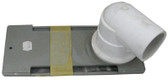 "WATERWAY | STRIP SKIMMER, 1-1/2"" WITH 90° ELBOW, GRAY 