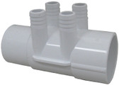 "WATERWAY | 2"" SLIP X 2"" SPG (4) 3/4"" BARBS 