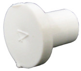 "CUSTOM MOLDED PLASTICS | 3/8"" SPIGOT PLUG (GLUES INSIDE 3/8"" BARB) 