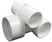 "WATERWAY | TEE BODY ONLY 1 1/2"" SLIP AIR X 2"" SLIP WATER 