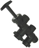 "HAYWARD | COMPLETE SLIDE VALVE - DE  USED ON THE DE FILTERS CENTERLINE MEASUREMENT BETWEEN PORTS ""C"" & ""D"" IS 5"" 