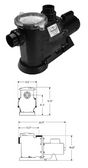WATERWAY | STANDARD EFFICIENCY - UP RATED PUMPS - SINGLE SPEED | SVL56S-115