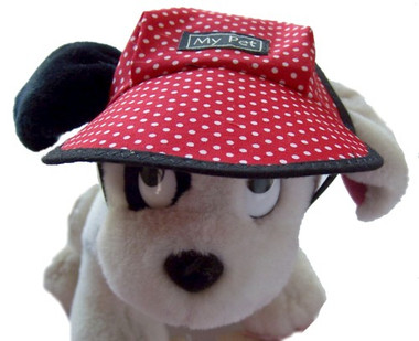Dog Hat 372 Red Pinspot