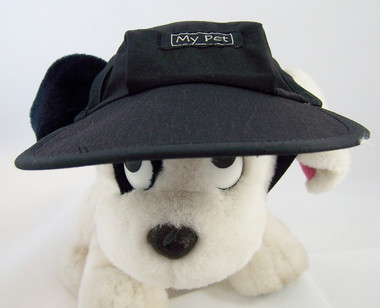 Dog Hat 404 black polyester front view