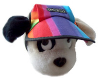 DH375 Rainbow dog hat with black trim