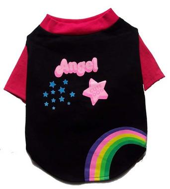 Angel, Cute Dog and rainbow doggie t-shirt
