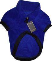 Royal Blue Velouor Fleecy Dog Jumper