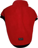 Fleecy dog Jumper - Red