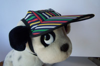 Dog Hat 359 - bright stripes