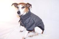 Charcoal fleecy dog jumper