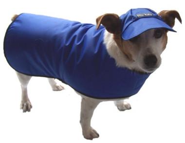 Waterproofed nylon dog coat