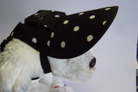 Dog Hat 309 - Black/WhiteSpots ... from