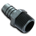 "Black HDPE Adapters 1/4"" x 3/16"" Barb (62005)"
