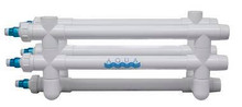 "Aqua Ultra Violet Classic 200W UV Sterilizer, 2"" White Body with 2"" Slip connections, 120V NEMA Transformer (A00200)"