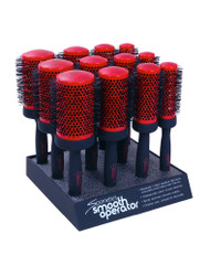 Spornette Smooth Operator Tourmaline Ionic Bristles Hair Brushes 12 pc Display
