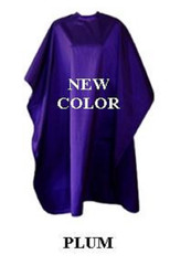 Iridescent Colored Water Repellent Shampoo/Cutting Capes-Plum-w