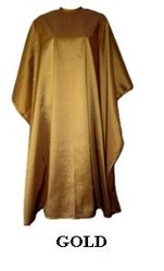 Iridescent Colored Water Repellent Shampoo/Cutting Capes-gold-w