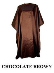 Iridescent Colored Water Repellent Shampoo/Cutting Capes-Chocolate-w
