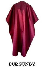 Iridescent Colored Water Repellent Shampoo/Cutting Capes-Burgandy-w