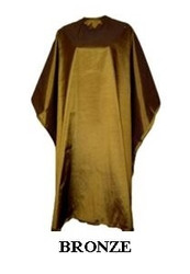 Iridescent Colored Water Repellent Shampoo/Cutting Capes-Bronze-w
