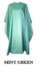 Iridescent Colored Water Repellent Shampoo/Cutting Capes-Mint Green-w